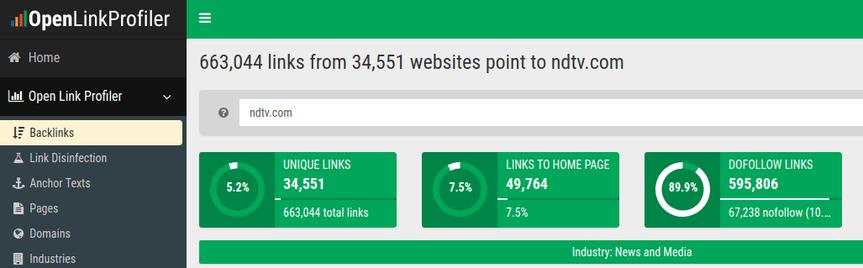 open link profiler backlink check