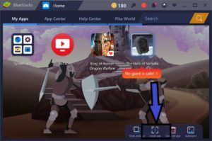 bluestacks import apk screen
