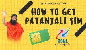 how to get patanjali sim