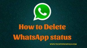 How to Delete WhatsApp status?