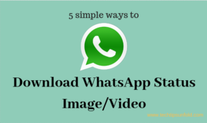 simple way to donwload whatsapp status