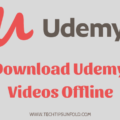 download udemy videos offline