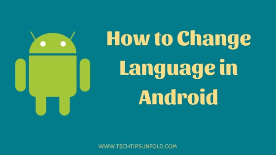 how to change language in android