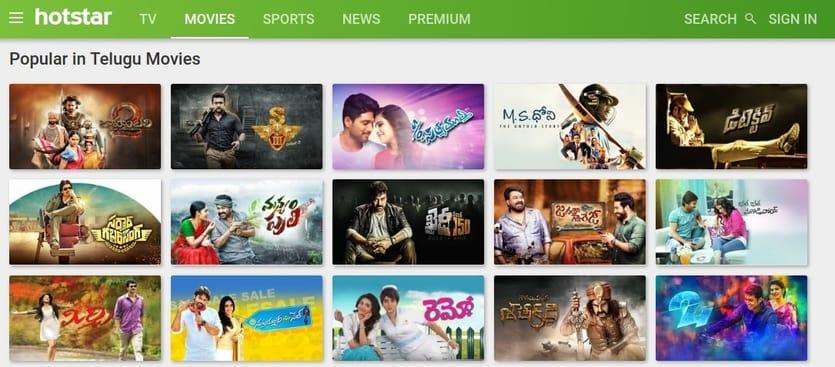 best site to watch telugu movies online - hotstar