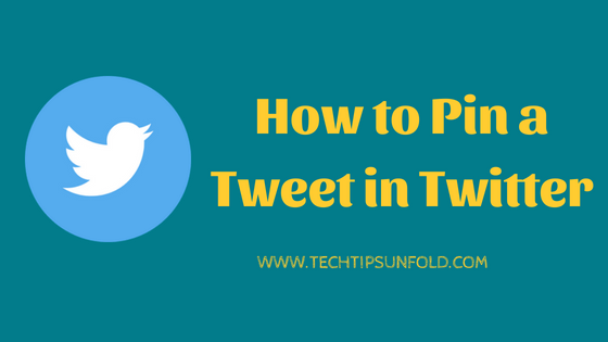 how to pin and unpin tweet in twitter