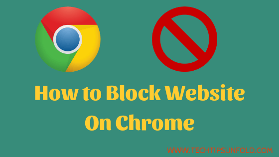 how to block website on chrome