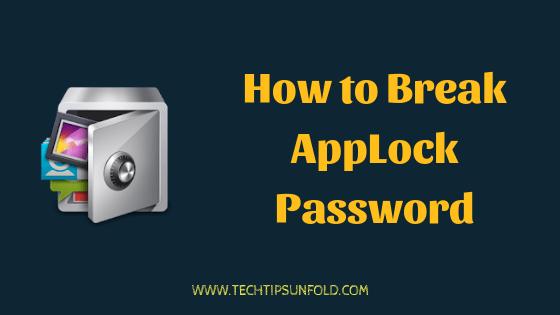 App Lock Password Breaker