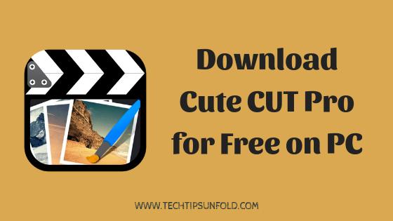 cute cut pro for windows pc