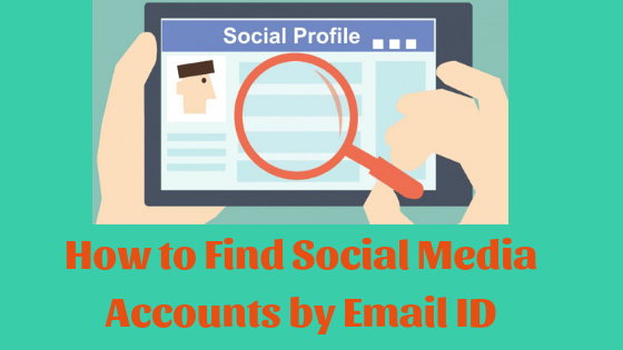 find social media accounts with email address