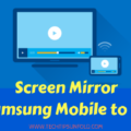 screen mirror samsung galaxy s7 to tv