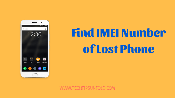 find imei number of lost mobile phone