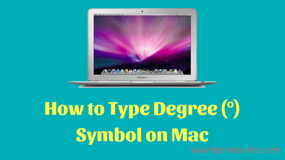 type degree sign on macos