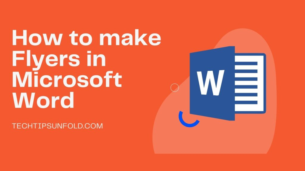 how to make flyers in microsoft word